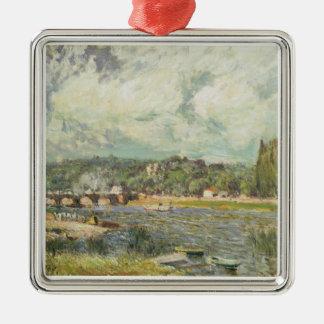 Ornement Carré Argenté Alfred Sisley | le pont chez Sevres