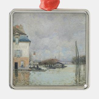 Ornement Carré Argenté Alfred Sisley | l'inondation à Port-Marneux
