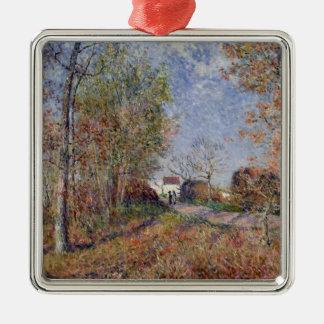 Ornement Carré Argenté Alfred Sisley | un coin des bois chez Sablons