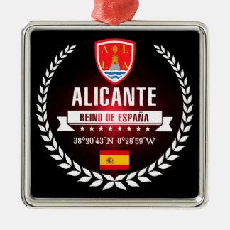 Ornement Carré Argenté Alicante