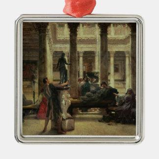 Ornement Carré Argenté Amant d'art romain d'Alma-Tadema |, 1870