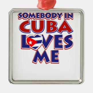 Ornement Carré Argenté Amour cubain