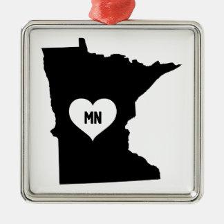 Ornement Carré Argenté Amour du Minnesota