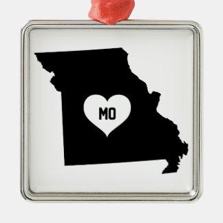 Ornement Carré Argenté Amour du Missouri