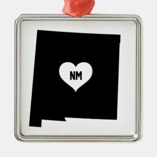 Ornement Carré Argenté Amour du Nouveau Mexique