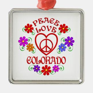 Ornement Carré Argenté Amour le Colorado de paix