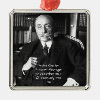 Ornement Carré Argenté André Charles prospèrent Messager 1921