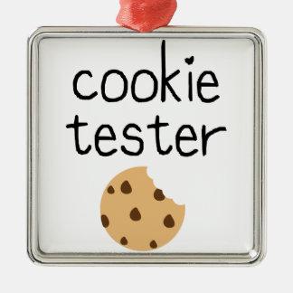 Ornement Carré Argenté Appareil de contrôle de biscuit