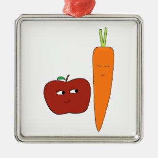 Ornement Carré Argenté Apple-Carotte