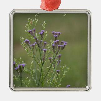 Ornement Carré Argenté Appréciez le poème simple de fleurs sauvages de