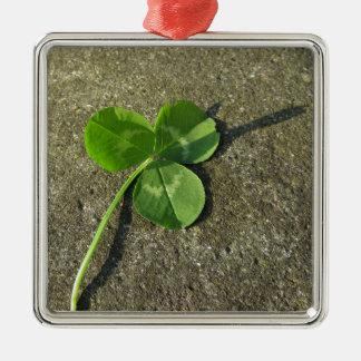 Ornement Carré Argenté Arrière - plan du jour de St Patrick avec le