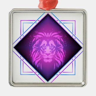 Ornement Carré Argenté Art de lion