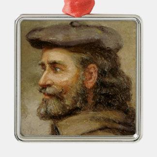 Ornement Carré Argenté ART | Robert P. Kilbert (autoportrait)