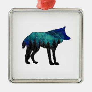 Ornement Carré Argenté Asile de loup