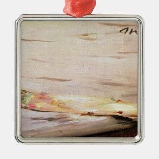 Ornement Carré Argenté Asperge de Manet |, 1880