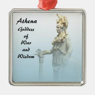 Ornement Carré Argenté Athéna dans la brume