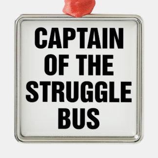 Ornement Carré Argenté Autobus de lutte