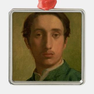 Ornement Carré Argenté Autoportrait d'Edgar Degas |