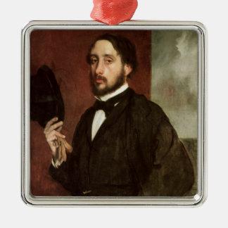Ornement Carré Argenté Autoportrait d'Edgar Degas |, c.1862