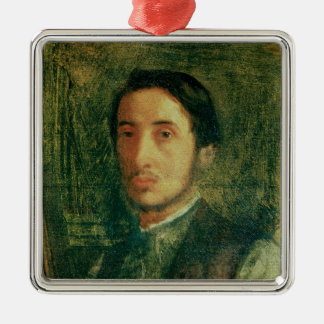 Ornement Carré Argenté Autoportrait d'Edgar Degas   en tant que jeune