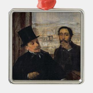 Ornement Carré Argenté Autoportrait W Evariste de Valernes d'Edgar Degas