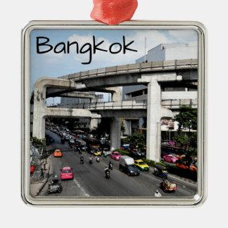 Ornement Carré Argenté Bangkok