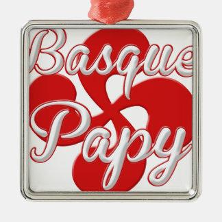 Ornement Carré Argenté Basque Papy