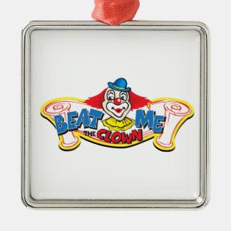 Ornement Carré Argenté Battez-moi le clown