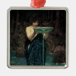Ornement Carré Argenté Beaux-arts victoriens, Circe Invidiosa par le