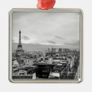 Ornement Carré Argenté Black&White: Eiffel Tower, Paris, France