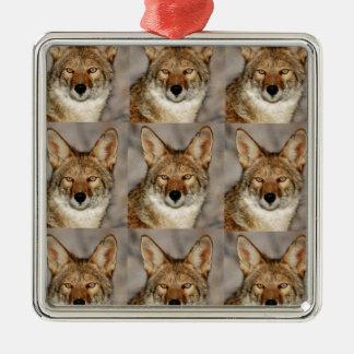 Ornement Carré Argenté boîtes de coyotes