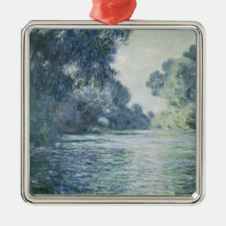 Ornement Carré Argenté Branche de Claude Monet | de la Seine près de