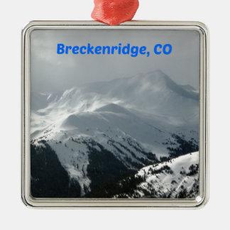 Ornement Carré Argenté Breckenridge, Co