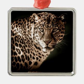 Ornement Carré Argenté Cadeaux de tigre