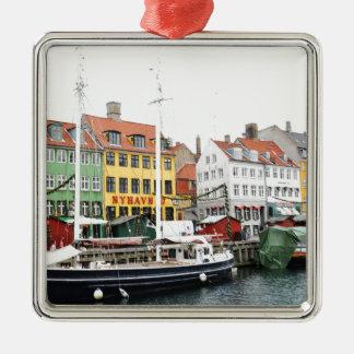 Ornement Carré Argenté Canal de Nyhavn à Copenhague, Danmark
