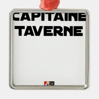 Ornement Carré Argenté CAPITAINE TAVERNE - Jeux de mots - Francois Ville