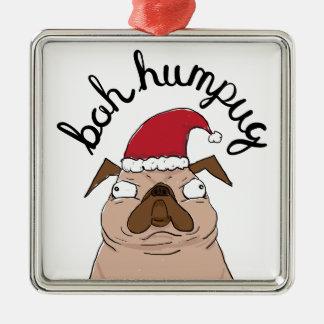 Ornement Carré Argenté Carlin de Père Noël de Noël de Bah Humpug