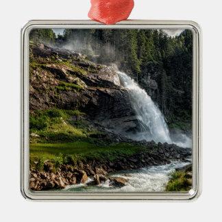 Ornement Carré Argenté cascade de krimml, Autriche
