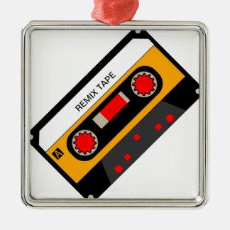 Ornement Carré Argenté Cassette vintage des années 80