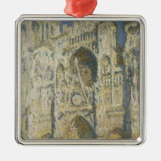 Ornement Carré Argenté Cathédrale de Claude Monet | Rouen à la pleine