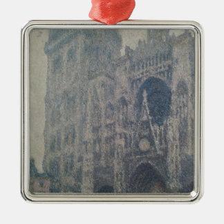 Ornement Carré Argenté Cathédrale de Claude Monet | Rouen, à l'ouest