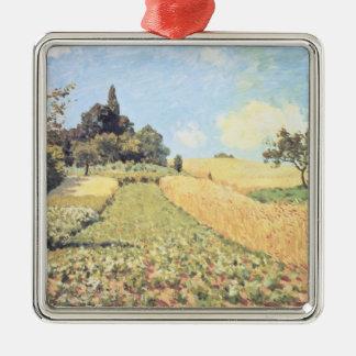 Ornement Carré Argenté Champ de blé d'Alfred Sisley  
