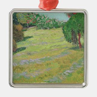 Ornement Carré Argenté Champ de Vincent van Gogh | au soleil, 1888