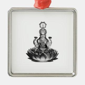 Ornement Carré Argenté Chanson de Lotus