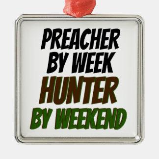 Ornement Carré Argenté Chasseur de prédicateur