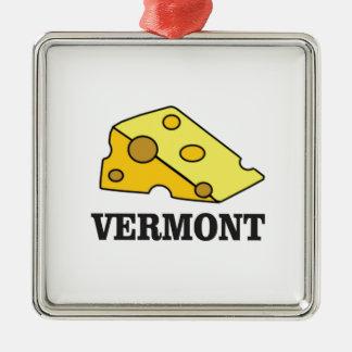 Ornement Carré Argenté Cheddar du Vermont