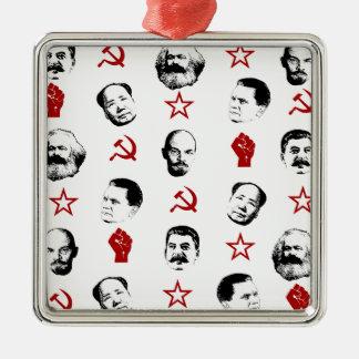 Ornement Carré Argenté Chefs communistes