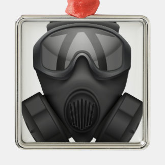 Ornement Carré Argenté Chemise-gaz-masque de T