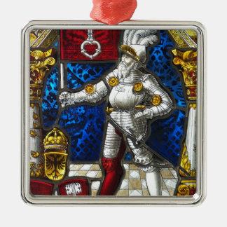 Ornement Carré Argenté chevalier #3