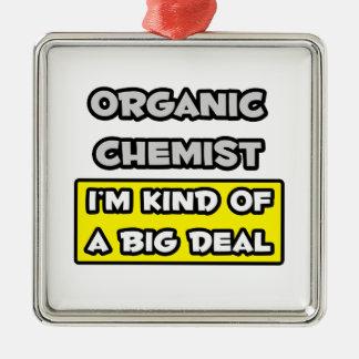 Ornement Carré Argenté Chimiste organique. Je suis un peu une affaire